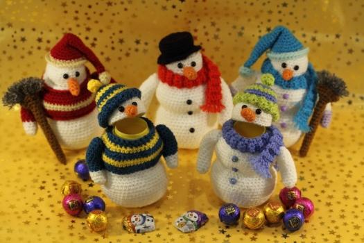 Crochet Pattern Ü-Snowman