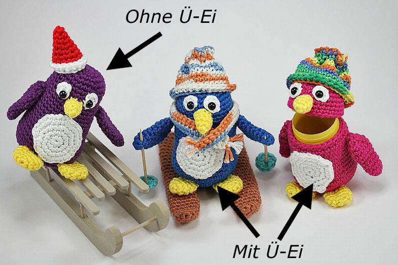 Sweepies - Häkelanleitung Ü-Pet Pinguin Pauli
